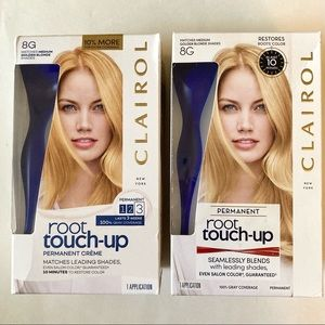 (2) Clairol Root Touch-Up 8G Medium Golden Blonde